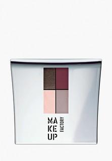 Тени для век Make Up Factory 4-х цветные Eye Colors т.09А коричневый/бордо/беж/нежный розовый