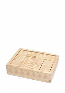 Конструктор Paremo Кубики деревянные, 12 деталей
