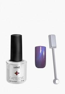 Набор для ухода за ногтями Runail Professional магнит и Гель-лак Cat's eye сапфировый блик, цвет: Манчкин, Munchki