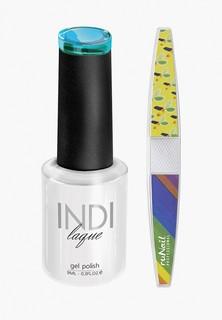 Набор для ухода за ногтями Runail Professional пилка для ногтей и Гель-лак INDI laque, 9 мл №3541