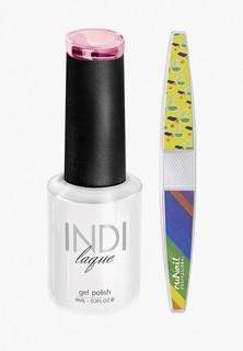 Набор для ухода за ногтями Runail Professional пилка для ногтей и Гель-лак INDI laque, 9 мл №3515