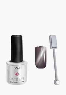 Набор для ухода за ногтями Runail Professional магнит и Гель-лак Cat's eye серебристый блик, цвет: Нибелунг, Nebel