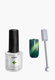 Набор для ухода за ногтями Runail Professional магнит и Гель-лак Cat's eye золотистый блик, цвет: Лесная кошка