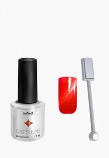Набор для ухода за ногтями Runail Professional магнит и Гель-лак Cat's eye золотистый блик, цвет: Калифорнийская кошка