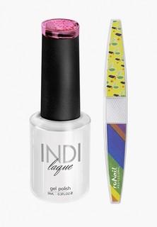 Набор для ухода за ногтями Runail Professional пилка для ногтей и Гель-лак INDI laque, 9 мл №3569