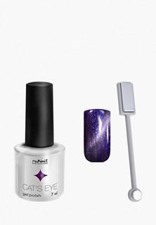 Набор для ухода за ногтями Runail Professional магнит и Гель-лак Cat's eye серебристый блик, цвет: Ангорская кошка