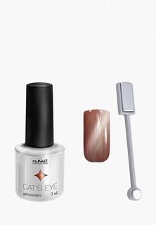 Набор для ухода за ногтями Runail Professional магнит и Гель-лак Cat's eye серебристый блик, цвет: Европейская кошка