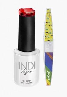 Набор для ухода за ногтями Runail Professional пилка для ногтей и Гель-лак INDI laque, 9 мл №3069