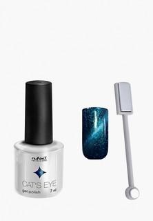 Набор для ухода за ногтями Runail Professional магнит и Гель-лак Cat's eye серебристый блик, цвет: Шантильи тиффан