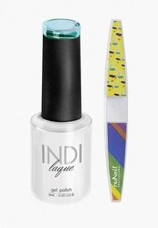 Набор для ухода за ногтями Runail Professional пилка для ногтей и Гель-лак INDI laque, 9 мл №3539