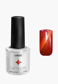Набор для ухода за ногтями Runail Professional магнит и Гель-лак Cat's eye (золотистый блик, цвет: Мэнкс, Manx)
