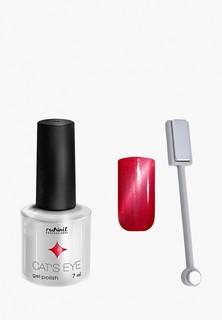 Набор для ухода за ногтями Runail Professional магнит и Гель-лак Cat's eye серебристый блик, цвет: Гламурная кошка