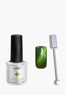 Набор для ухода за ногтями Runail Professional магнит и Гель-лак Cat's eye золотистый блик, цвет: Яванская кошка