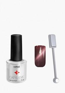 Набор для ухода за ногтями Runail Professional магнит и Гель-лак Cat's eye серебристый блик, цвет: Бенгальская кошка