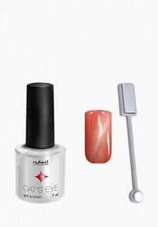 Набор для ухода за ногтями Runail Professional магнит и Гель-лак Cat's eye серебристый блик, цвет: Сомалийская кошка