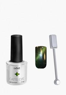 Набор для ухода за ногтями Runail Professional магнит и Гель-лак Cat's eye золотистый блик, цвет: Кельтская кошка