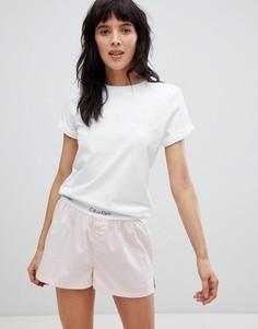 Белый пижамный топ из хлопка Calvin Klein - Белый
