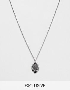 Серебристое ожерелье с изображением Св.Христофора на подвеске Reclaimed Vintage inspired эксклюзивно для ASOS - Серебряный