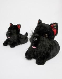 Слиперы с дизайном собака Loungeable - Черный