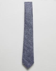 Синий фактурный узкий галстук ASOS DESIGN - Синий