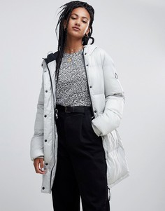 Длинная дутая куртка Penfield - Серебряный
