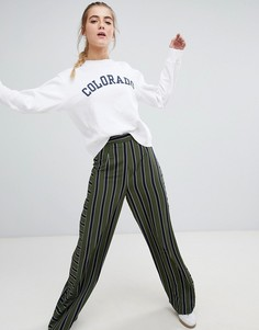 Широкие брюки в полоску Daisy Street - Зеленый