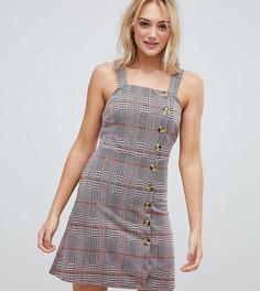 Платье с застежкой на пуговицу сбоку New Look Tall - Серый