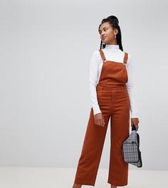 Коричневый джинсовый комбинезон с широкими штанинами Monki - Коричневый