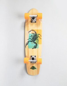 Скейтборд D-Street Scorpion cruiser - 7.25 - Коричневый