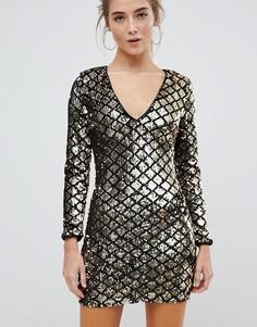Платье с пайетками Parisian - Черный