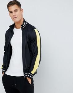 Куртка на молнии со вставками Another Influence - Черный