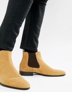 Бежевые кожаные ботинки челси ALDO Chenadien - Коричневый