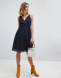 Платье без рукавов в горошек Vero Moda - Черный
