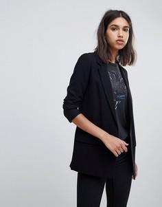 Строгий блейзер AllSaints - Черный
