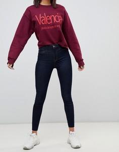 Темные выбеленные джинсы скинни River Island - Синий