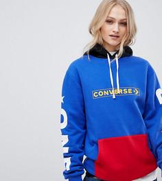 Синий худи бойфренда с логотипом Converse Exclusive One Star - Синий