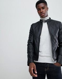 Байкерская куртка из искусственной кожи Barneys Originals - Черный