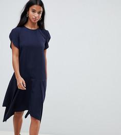 Свободное платье с асимметричным краем Vero Moda Petite - Темно-синий