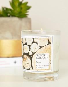 Свеча 190 г с ароматом древесины с дымком Maison La Bougie Wood - Мульти