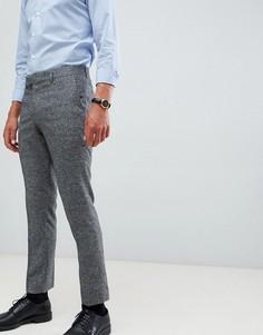Серые фактурные укороченные брюки зауженного кроя Farah Thornville - Серый