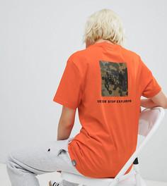 Оранжевая футболка с логотипом The North Face - Оранжевый