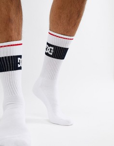 Черные носки с логотипом DC Shoes - Белый