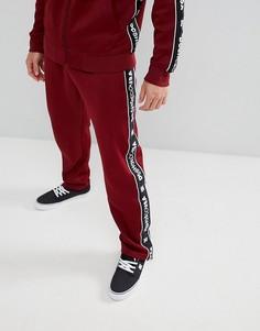 Бордовые джоггеры с отделкой фирменной лентой DC Shoes - Красный