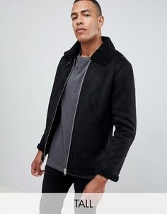 Куртка с воротником борг Barneys Originals Tall - Черный