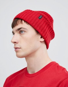 Шапка-бини из 100% мериносовой шерсти Selected Homme - Красный