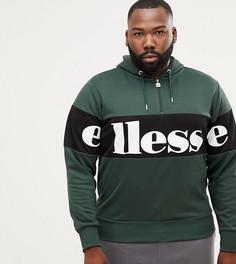 Худи зеленого цвета с молнией 1/4 и логотипом ellesse - Зеленый