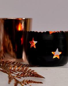 Медно-черная подставка для чайной свечи Sass & Belle Christmas - Мульти