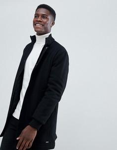 Шерстяное пальто с высоким воротником Esprit - Черный
