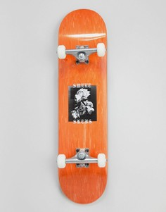 Скейтборд SWEET SKTBS Rose Complete - 7,85 дюйм - Коричневый