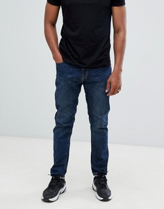 Темно-синие джинсы прямого кроя Bershka - Синий